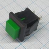 Кнопка квадратная зеленая под пайку