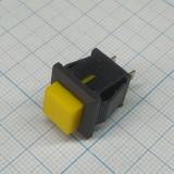 Кнопка квадратная жёлтая под пайку