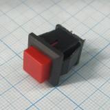Кнопка квадратная красная под пайку