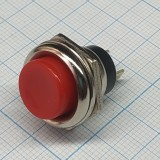 Кнопка круглая красная