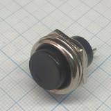 Кнопка круглая чёрная