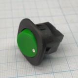 Выключатель зелёный с винтовым зажимом