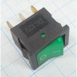 Клавишный выключатель зелёный