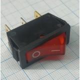 Клавишный выключатель красный