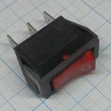 Клавишный переключатель красный